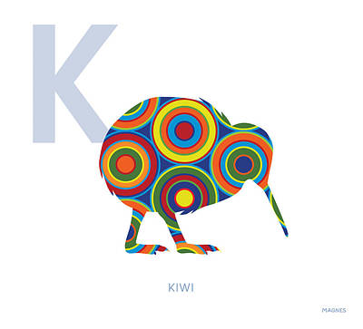 Kiwi Bird Digital Art - K Is For Kiwi by Ron Magnes