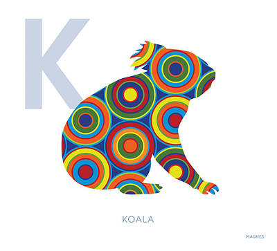 Koala Digital Art - K Is For Koala by Ron Magnes