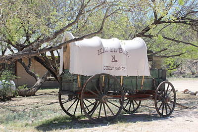 Photograph - K L Bar Wagon by Dody Rogers