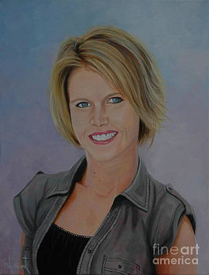 Painting - K With Short Hair by Michael Nowak