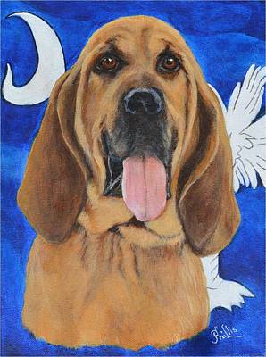 Police Dog Painting - K9 Duke by D Phillis Cook