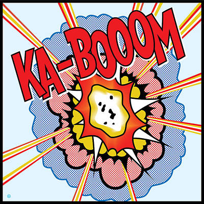 Painting - Ka-booom by Gary Grayson