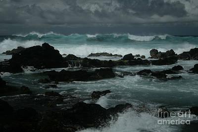 Digital Art - Ka Makani Kaiili Aloha Hookipa Maui Hawaii  by Sharon Mau