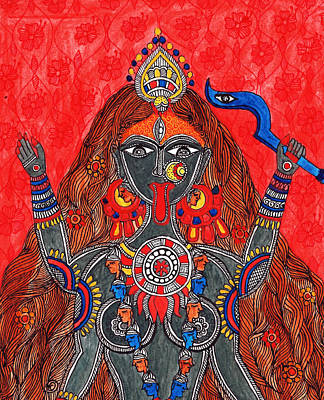 Kaali- The Fierce Form Art Print by Shishu Suman