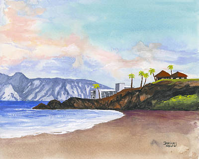 Art Print featuring the painting Kaanapali Beach by Darice Machel McGuire