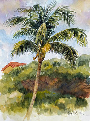 Painting - Kaanapali Palm by William Reed