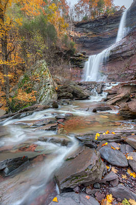 Photograph - Kaaterskill Falls Autumn Portrait by Bill Wakeley