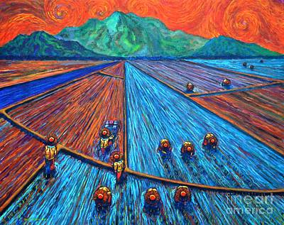 Rice Field Painting - Kabesilyas 1 by Paul Hilario