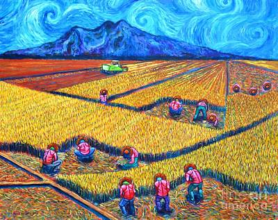 Rice Field Painting - Kabesilyas 2 by Paul Hilario