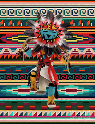 Digital Art - Kachina Doll Art by Walter Colvin