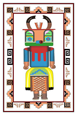 Digital Art - Kachina Doll by Tim Hightower