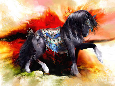 Native American Horse Digital Art - Kachina Hopi Spirit Horse  by Shanina Conway