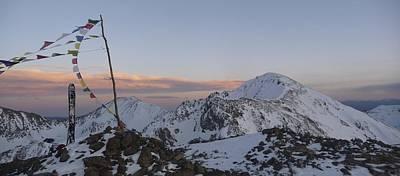 Mountain Sunset Digital Art - Kachina Peak  by Cory  Lamblin