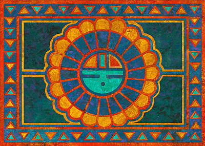 Kachina Sun Spirit Art Print by Linda Henry