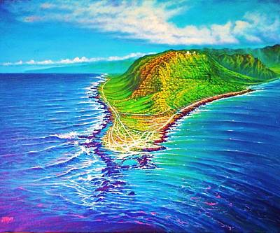 Kaena Point Refractions Art Print