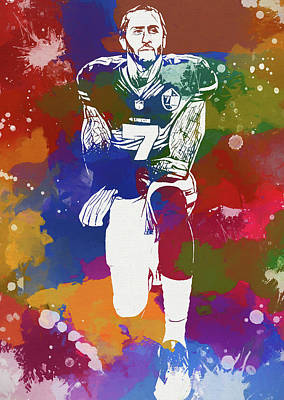 Recently Sold - Sports Paintings - Kaepernick by Dan Sproul