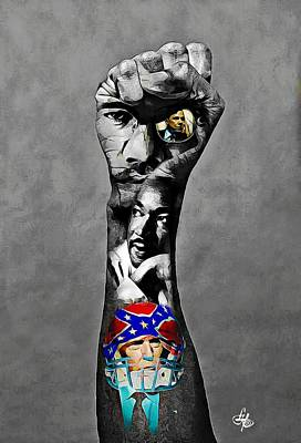 Digital Art - Kaepernick Fist 2 by Lynda Payton