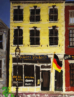 Painting - Kaffee Vonsolln by Francois Lamothe