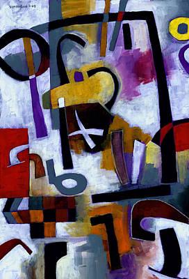 Painting - Kaffeeklatsch by Douglas Simonson