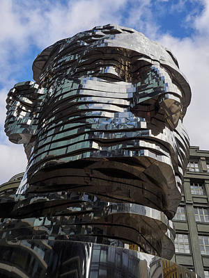 Photograph - Kafka Head. Prague Spring 2017 by Jouko Lehto