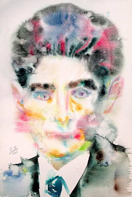 Kafka - Watercolor Portrait Original by Fabrizio Cassetta