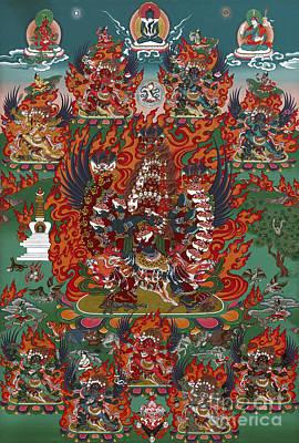 Bodhisattva Painting - Kagye Tsasum Tersar by Sergey Noskov