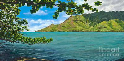 Kahana Painting - Kahana Bay Splendor by Pati O'Neal