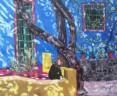 Kahlo Blue - Sold Original by Judith Espinoza