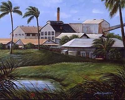 Painting - Kahuku Sugar Mill, Hawaii by Susan Elizabeth Wolding