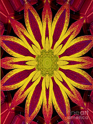 Photograph - Kaleidoscope Generated Geometric Design by Merton Allen