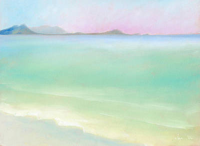 Kailua Sunrise Art Print by Angela Treat Lyon