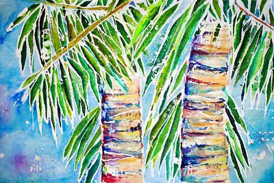 Art Medium Painting - Kaimana Beach by Julie Kerns Schaper - Printscapes