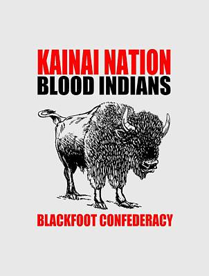 Kainai Nation Bison Art Print