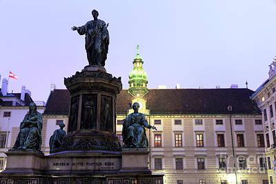 Photograph - Kaiser Franz Denkmal At Night by John Rizzuto