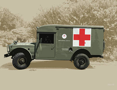 Royalty-Free and Rights-Managed Images - Kaiser Jeep M725 Army by Greg Joens