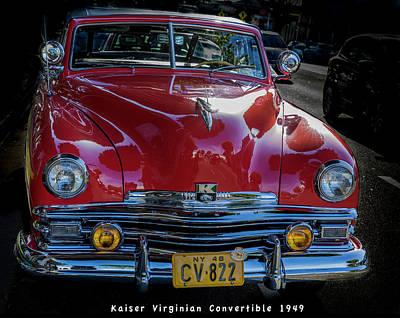 Photograph - Kaiser Virginian Deluxe - 1949 Convertible by Gene Parks