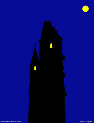 Mixed Media - Kaiser Wilhelm Memorial Church by Asbjorn Lonvig