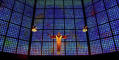 Kaiser Wilhelm Memorial Church, Berlin, Germany Art Print by Wayne Higgs