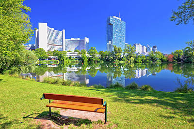 Photograph - Kaiserwasser Lake Park And Vienna International Centre Bussines  by Brch Photography