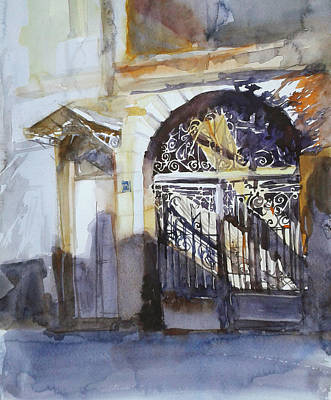 Tbilisi Drawing - Kakabadze Br. Str. by Anastasia Logvinenko
