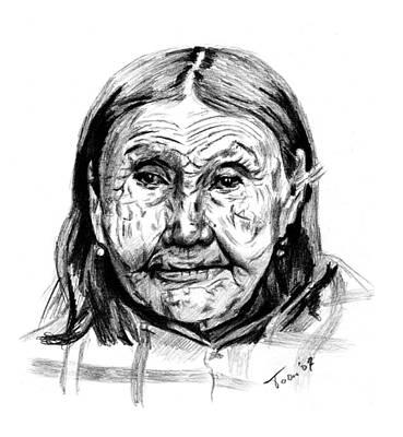 Drawing - Kaktsamah by Toon De Zwart
