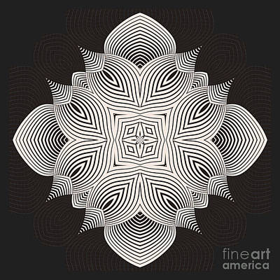 Symmetry Digital Art - Kal - 71c89 by Variance Collections