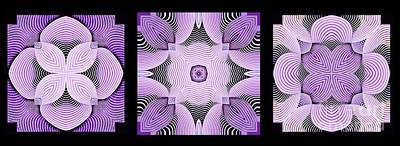 Purple Digital Art - Kal - C6925 by Variance Collections