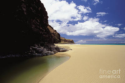 Kalalau Beach, Empty Art Print by Peter French - Printscapes