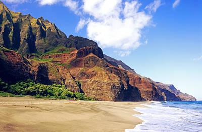Kalalau Beach Photograph - Kalalau Beach Morning Kauai  by Kevin Smith