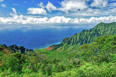 Photograph - Kalalau Lookout by Gary Eyring
