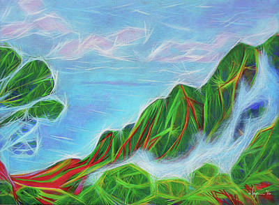 Painting - Kalalau Mists by Angela Treat Lyon