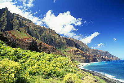 Photograph - Kalalau, Secluded Beach by Peter French - Printscapes