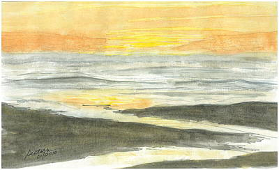 Painting - Kalaloch Sunset Sketch by Joel Deutsch