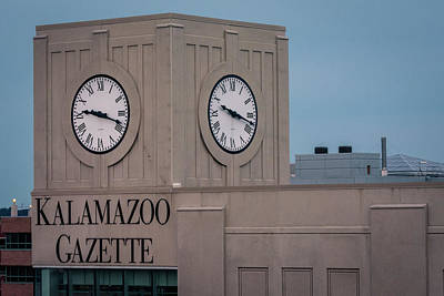 Kalamazoo Gazette Clock Tower Art Print